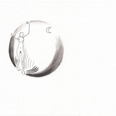 Numme qui danse sous la Lune