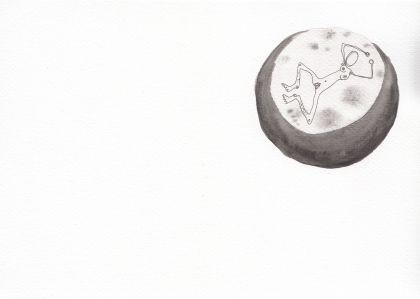Numme qui nage dans une flaque