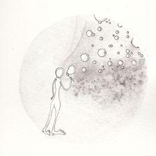 Numme qui fait des bulles